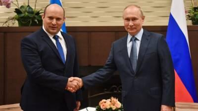 В Израиле сообщили, что Путин пригласил Беннета посетить Петербург
