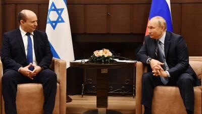Путин пригласил в Петербург премьер-министра Израиля Беннета